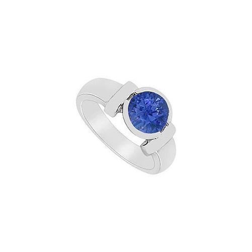 Sapphire Ring : 14K White Gold - 2.00 CT TGW-JewelryKorner-com