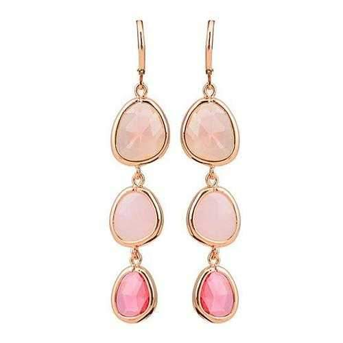 Serena Ombre Style Gem Drop Earrings-JewelryKorner-com