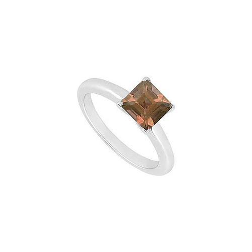 Smoky Topaz Ring : 14K White Gold - 0.75 CT TGW-JewelryKorner-com