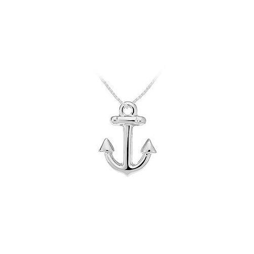 Sterling Silver Anchor Pendant-JewelryKorner-com