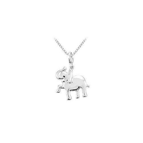 Sterling Silver Charming Animal Elephant Charm Pendant-JewelryKorner-com