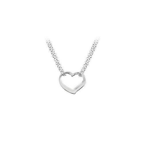 Sterling Silver Heart Shaped Necklace-JewelryKorner-com