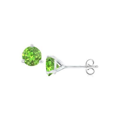 Sterling Silver Martini Style Peridot Stud Earrings with 2.00 CT TGW-JewelryKorner-com