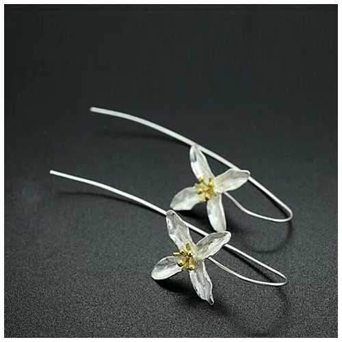 Straight from the Valley Amazing Flower Earrings made in Sterling Silver-JewelryKorner-com
