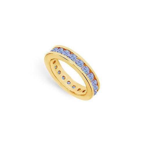 Tanzanite Channel-Set Eternity Band : 14K Yellow Gold - 2.00 CT TGW-JewelryKorner-com