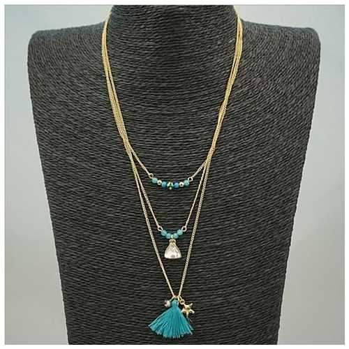 TASSEL AND TRINKETS Layered Necklace-JewelryKorner-com