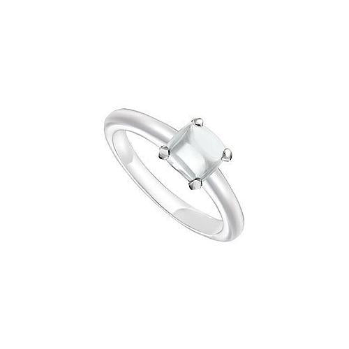 White Chalcedony Ring : 14K White Gold - 5.00 CT TGW-JewelryKorner-com