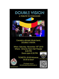 Double Vision Foreigner Tribute Concert