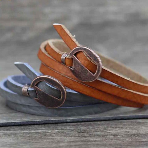 Stylish Leather Bracelets - Many Colors - See Pics - Creek Jewelry