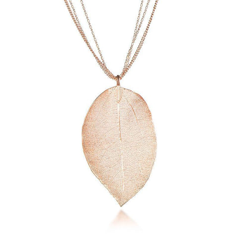 High Quality Natural Leaf Pendant Necklaces - 3 Options - Creek Jewelry