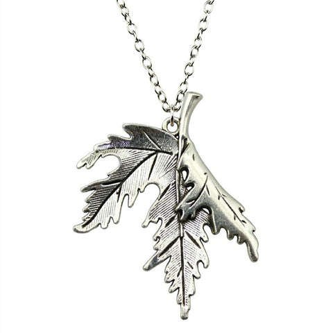 Turning Leaf Pendant Necklace - Two Lengths and Colors - Creek Jewelry