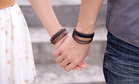 Multilayer Leather Bracelet - Black and Brown - Creek Jewelry