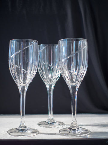 Mikasa Uptown Crystal Water Goblets Used
