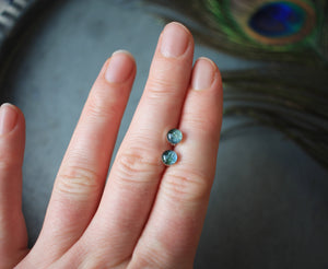 Turquoise Hydrangea stud earrings