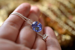 royal blue drop necklace