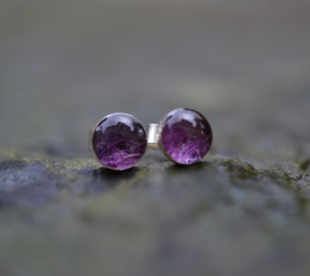 purple hydragea studs by golden forest boutique