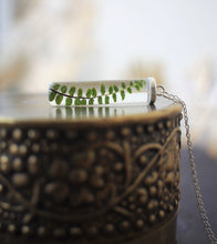 fern necklace handmade in Ireland with eco resin