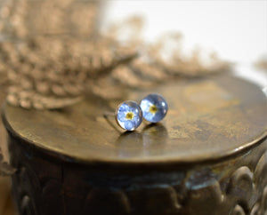 Forgetmenot stud earrings made in Ireland