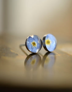 Forget me not studs by golden forest boutique