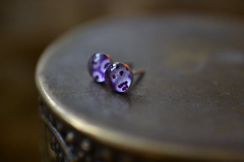 Foxglove stud earrings