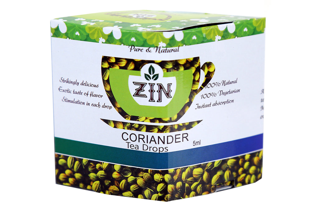 Zin Coriander Tea Drops (5ml) - Genspice