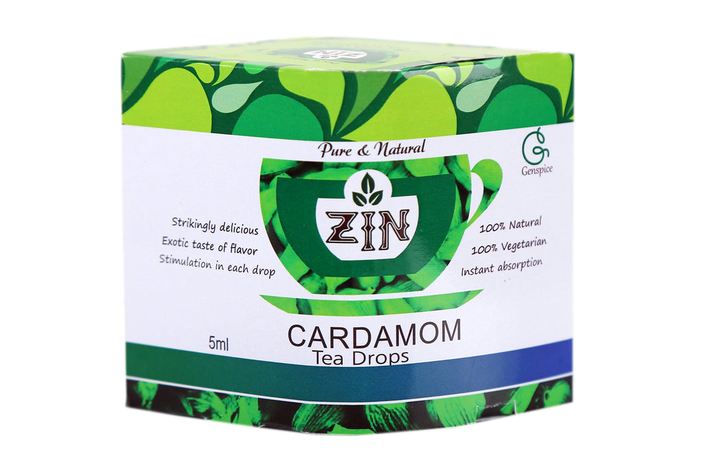 Zin Cardamom Tea Drops (5ml) - Genspice
