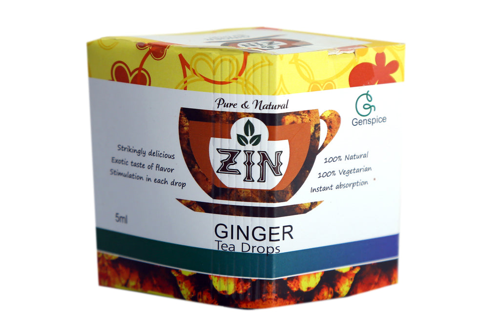 Zin Ginger Tea Drops (5ml) - Genspice