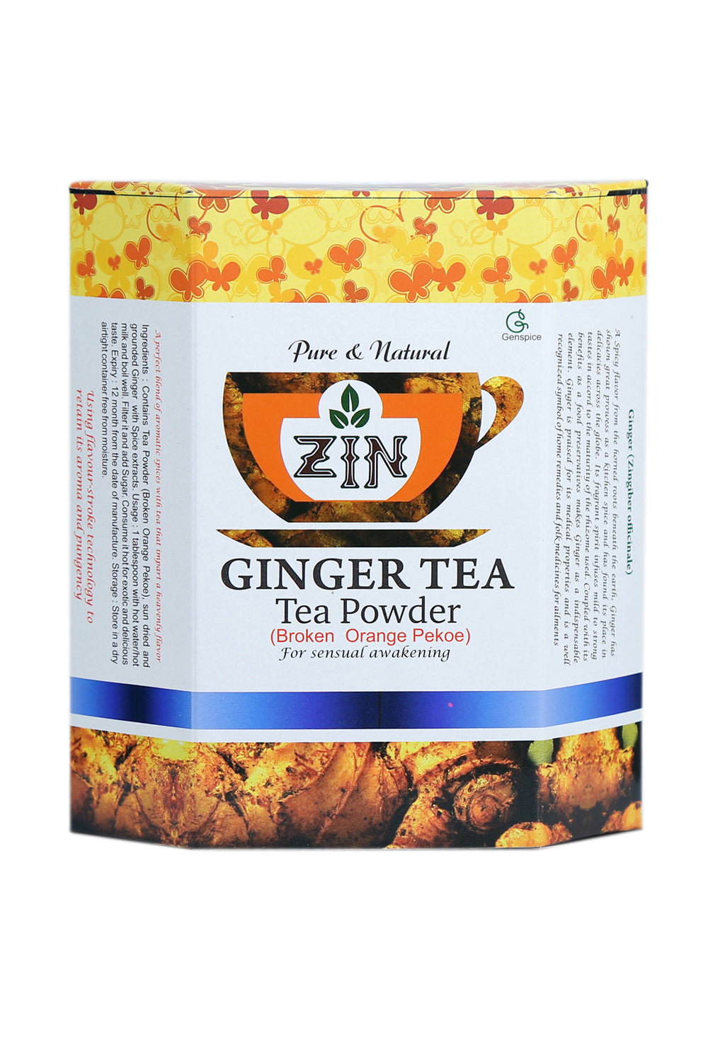 Zin Ginger Tea Powder - Genspice