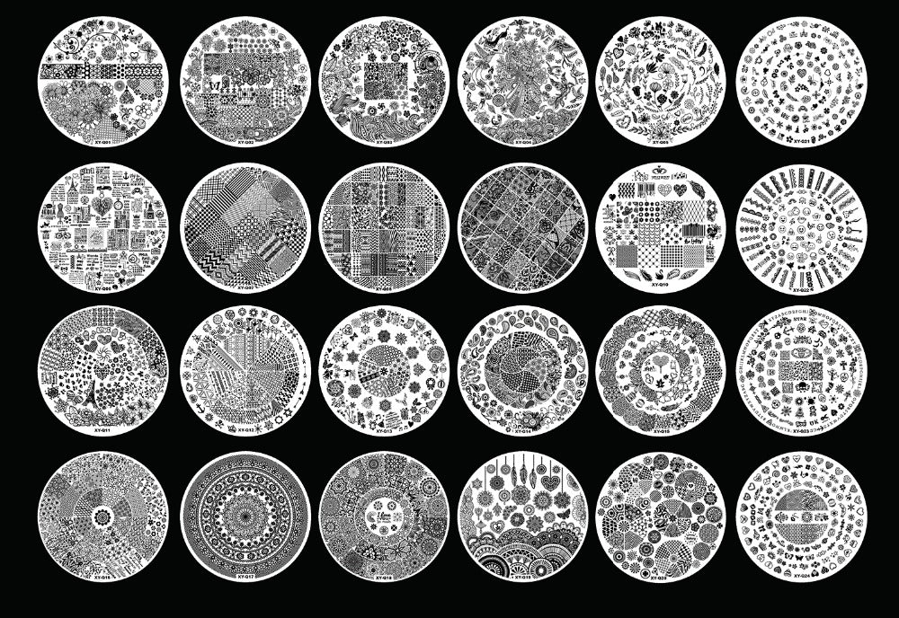 Acrylic Nail Art Stamping Plates Clear Stamp Templates – T2D-Queen
