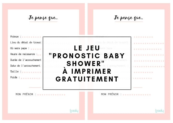 Pronostic Baby Shower à imprimer