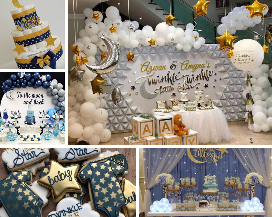 baby shower etoiles