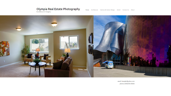 Olympia Real Estate Photography Website Preview