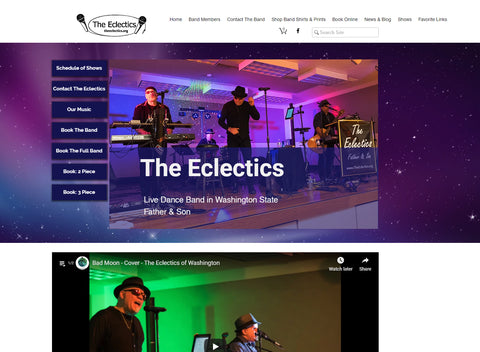 The Eclectics Website Mockup