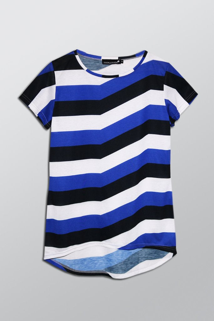 Blue Striped Back Drop T-shirt