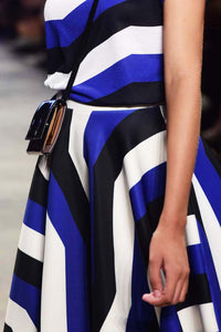 Blue striped Circle Skirt