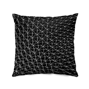 Biosphere Throw Pillow (black)