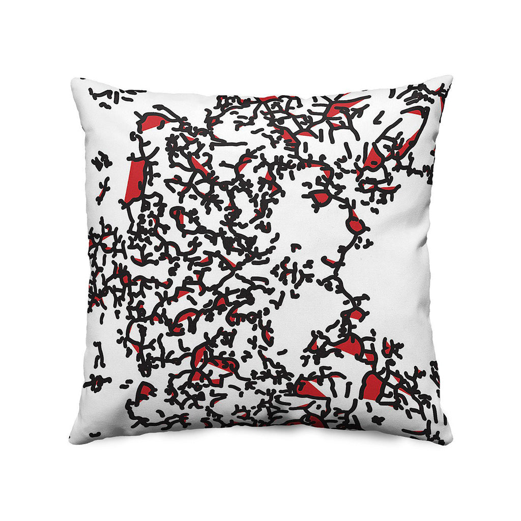 Microscope Throw Pillow