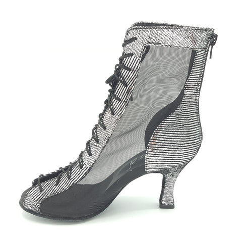 Godiva Chic Dance Boot Silver/Black 2-1/2