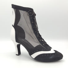 Lady Di Bootie BLACK & WHITE super elegant!