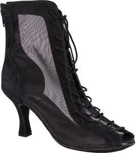 "Godiva Chic Dance Boot Black 3"" Heel"