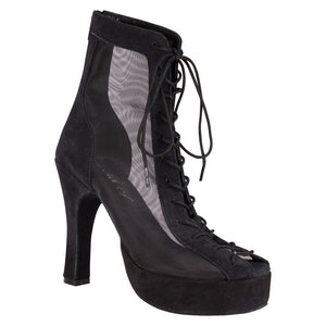 Godiva Chic Black Suede Dance Boot Platform