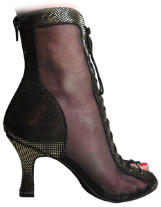 "Godiva Chic Dance Boot Gold/Black 2-1/2"" Heel"