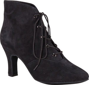 Lady Di Dance Boot Black Suede