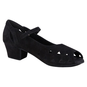 "Regal 3 Pump 1"" Heel Black Suede"
