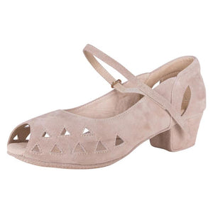 "Regal 3 Pump 1"" Heel Beige Suede"