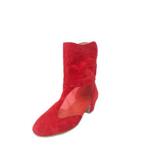 Victoria Bootie RED SUEDE NEW!!!!