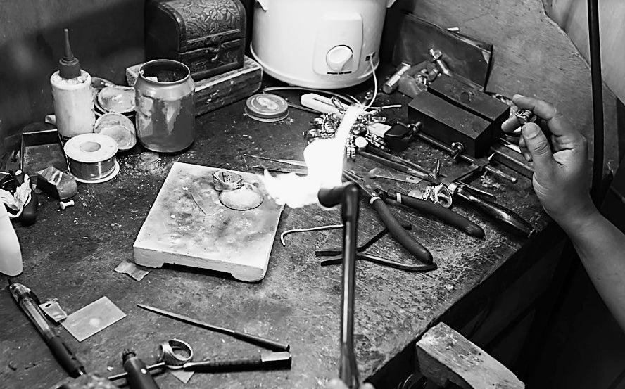 SilverTwig Jewellery - Our Story - Silver jewellery making