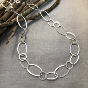 Silver Ovals and Circles