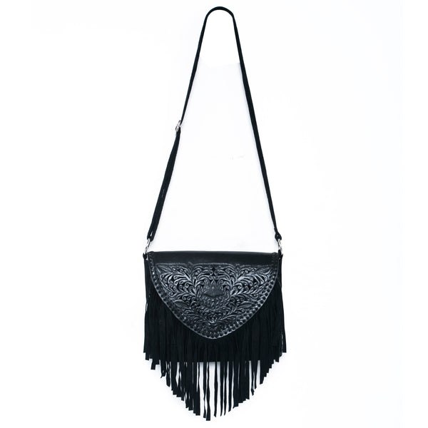 Protea Cut-Out Bag Black - Jodi Lee