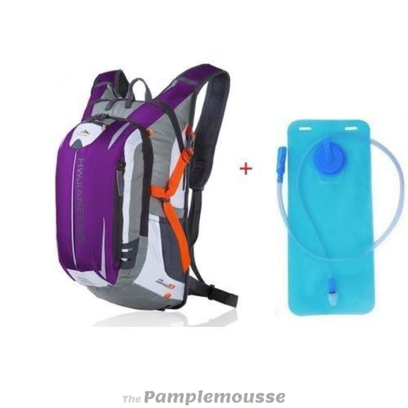 18L Sports Water Bladder Hydration Backpack Outdoor Running Trail Climbing  Cycling Hiking Camelback - Purple - dcc560f7aa